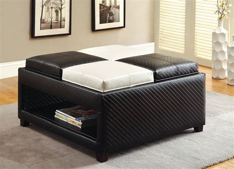 coffee table leather ottoman ottoman as coffee table will be the decision for