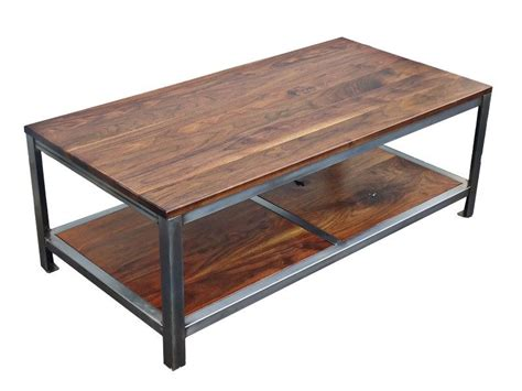custom made coffee tables custom made walnut steel coffee table by kowalski wood