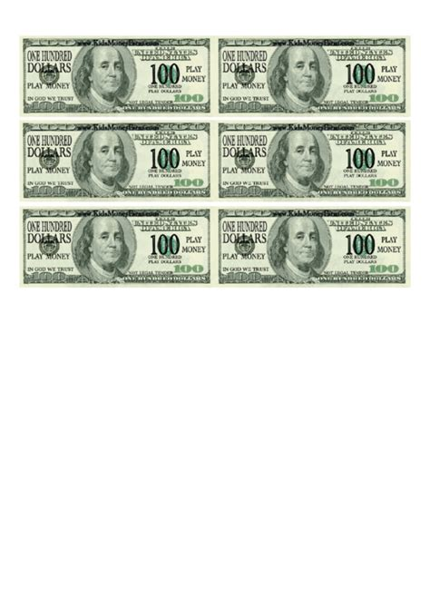 play money template one hundred dollar bill play money template printable pdf