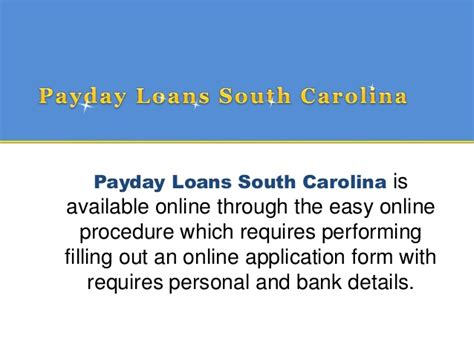 Payday Loans In Carolina by Payday Loans South Carolina Time To Comfort Individual Ideas