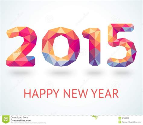 happy new year 2015 colorful greeting card stock photos