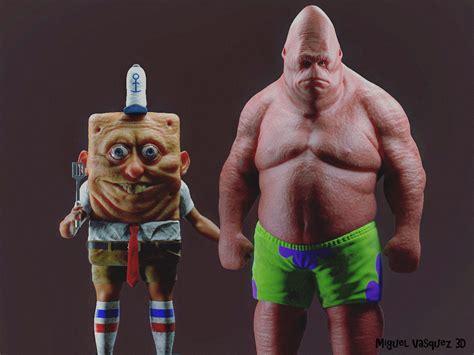 cartoon characters  real life   pretty terrifying