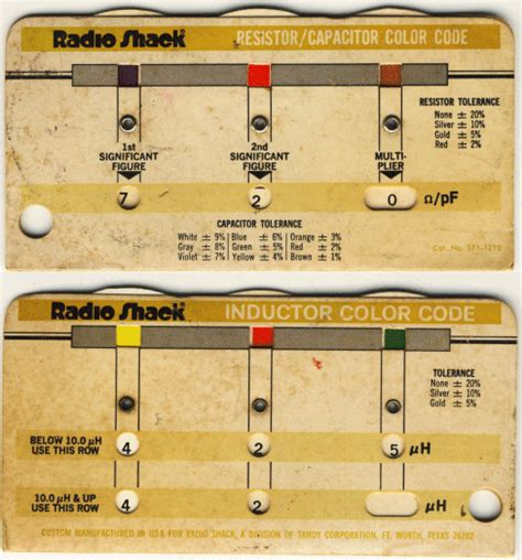 small inductor color code wheel charts for antique radios electronics and technology
