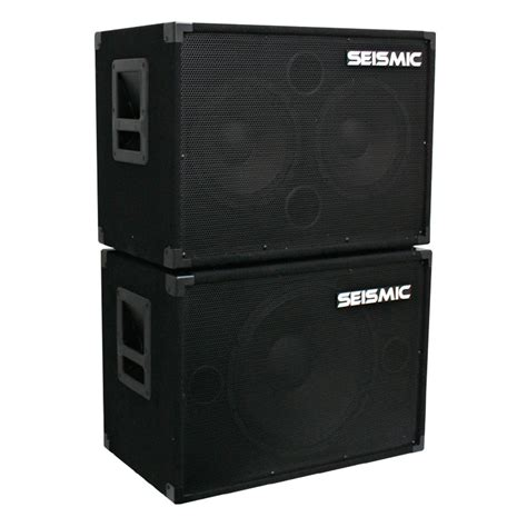 2x10 guitar speaker cabinet seismic audio new 1x15 2x10 bass guitar speaker cabinets