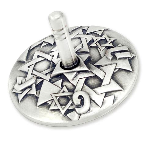 Motif Jd danon silver plated dreidel with of david motif