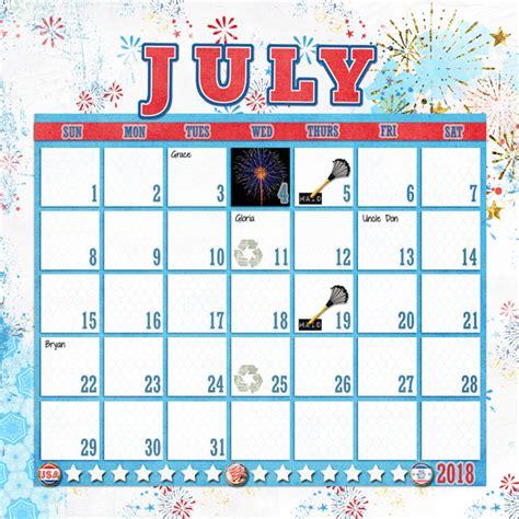 scrapbook calendar template digital scrapbook templates 2018 june scrapping with liz