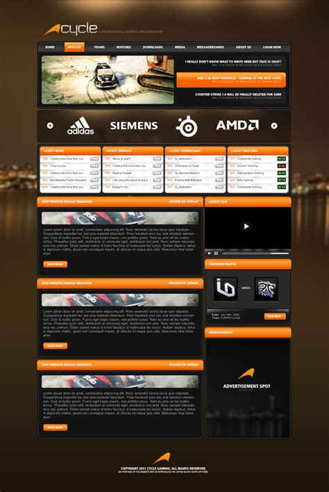 game website layout 25 awesome game website designs for your inspiration