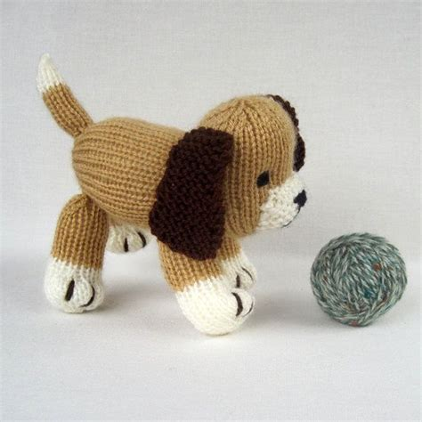 knitted toys muffin the puppy knitted instant