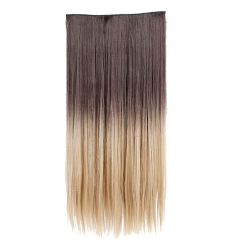 synthetic hair extension 26 quot 4h24 1pcs synthetic clip in hair extensions