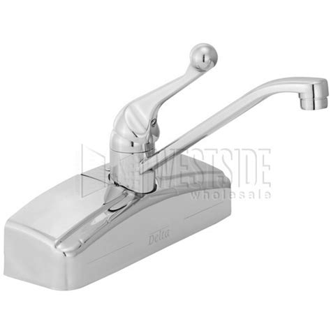 Delta Wall Mount Kitchen Faucet Delta 200 Classic Wall Mount Single Handle Kitchen Faucet Chrome