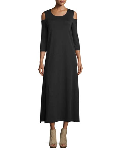 Maxi A Line Jersey Premium joan vass cold shoulder a line jersey maxi dress