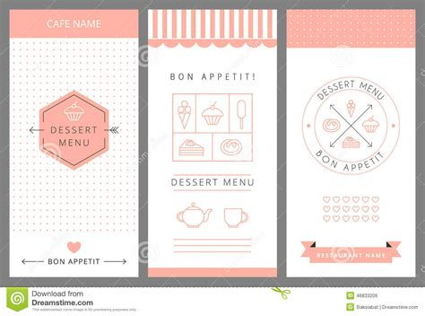 menu card design templates dessert menu card design template stock vector image