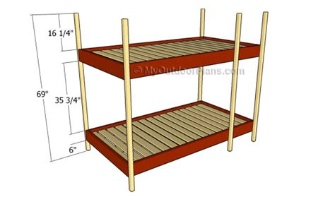 free plans for bunk beds free bunk bed plans myoutdoorplans free woodworking