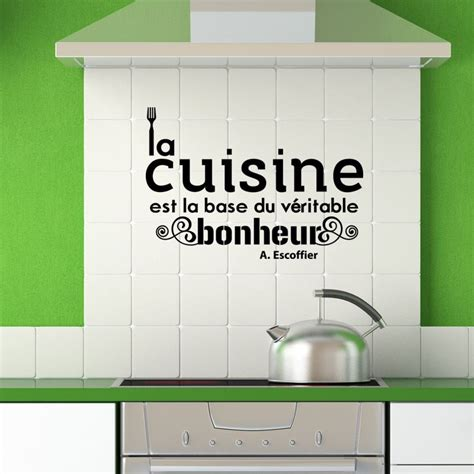 sticker citation cuisine de a escoffier pas cher