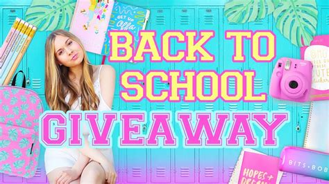Polaroid Camera Giveaway 2017 - back to school giveaway 2017 school supplies backpack polaroid camera more youtube