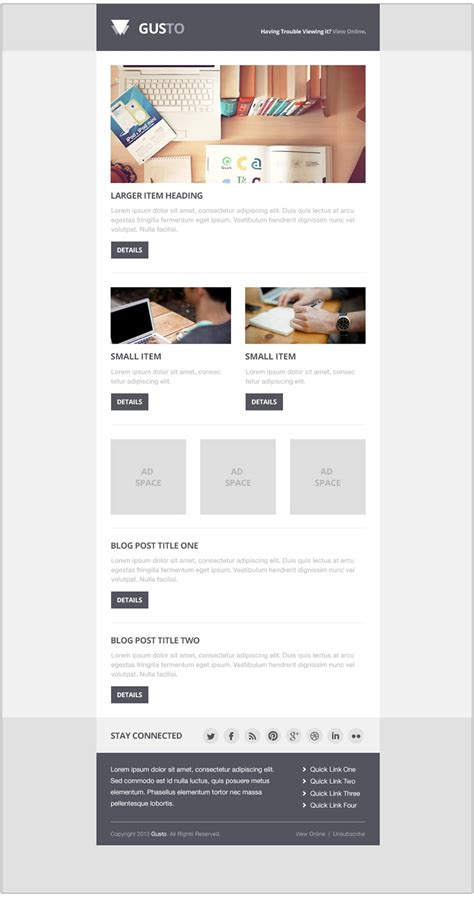 Free Email Newsletter Templates Psd 187 Css Author Free Convertkit Email Template