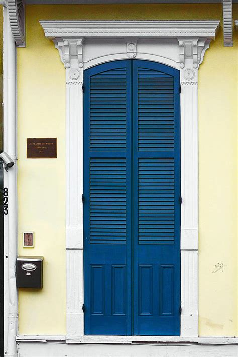 blue new orleans new orleans blue door photograph by christine till