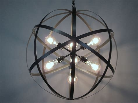Orb Lights by Modern Industrial Orb Chandelier Ceiling Light 24 Inch Sphere
