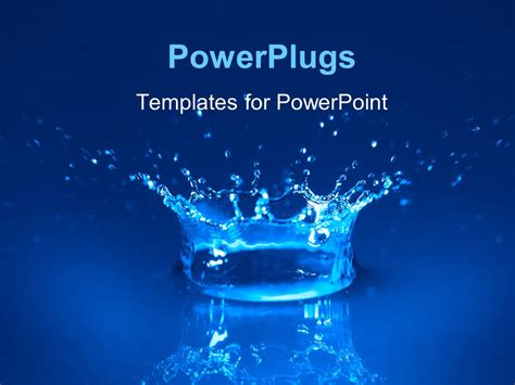 powerpoint template water powerpoint template splash of water spreading water drops