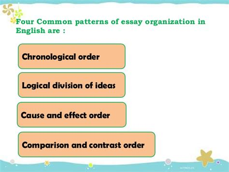 Essay Patterns by Patterns Of Organization In Essay Writing Patterns Of