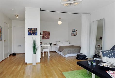 10 Small One Room Apartments Featuring A Scandinavian Décor 1 Bedroom Apartment Interior Design