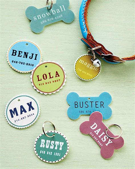 puppy id tags pet id tag martha stewart