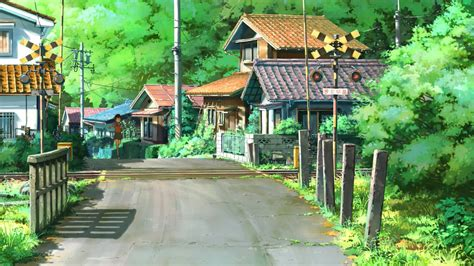 free wallpaper village village anime scenery wallpaper free desktop 28384
