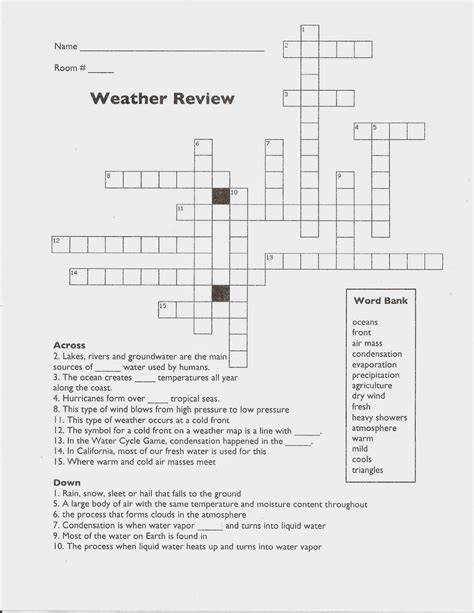 Weather And Climate Worksheets by 6th Grade Weather And Climate Worksheets Word Puzzles