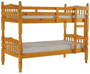 Pine Wood Bunk Beds Solid Pine Bunk Beds With 2 Mattresses Free Delivery Ebay