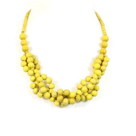 tani yellow wooden necklace baby proof nursing necklace