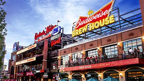 budweiser brew house busch stadium ballpark village information cardinals com ballpark
