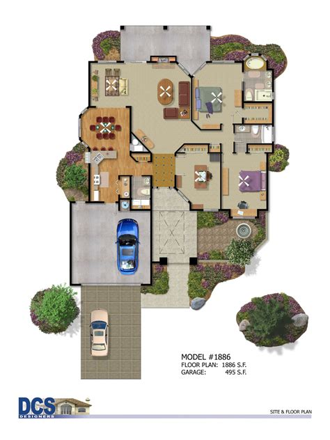 color floor plans color enhanced plans