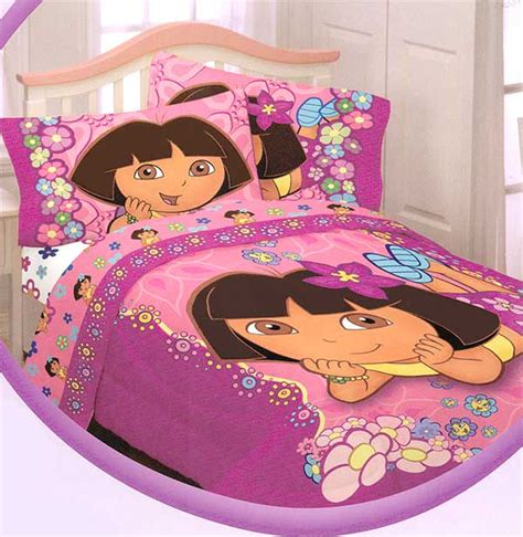 dora comforter dora the explorer happy flowers full sheets set