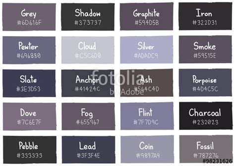 color shades of grey shades of grey color names www pixshark com images