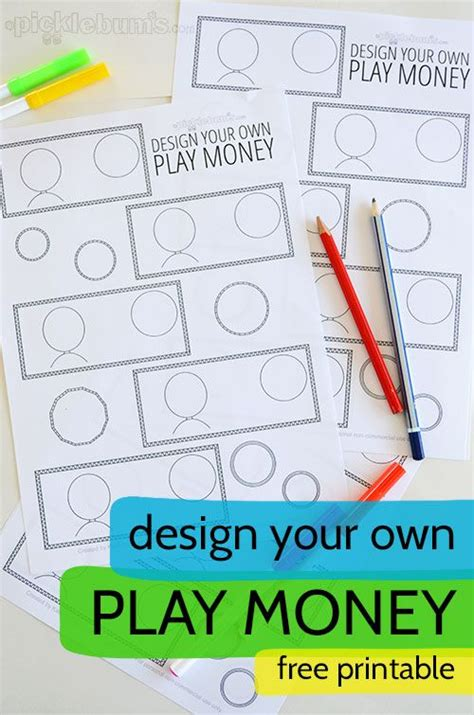 make your own printable fake money for kids silent auction and design on pinterest
