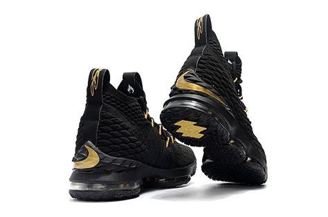 lebron basketball shoes sale black metallic gold nike lebron 15 basketball shoes for sale