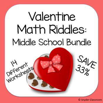 Middle School Math Description by Math Riddles Middle School Bundle By Snyder Classroom Teachers Pay Teachers