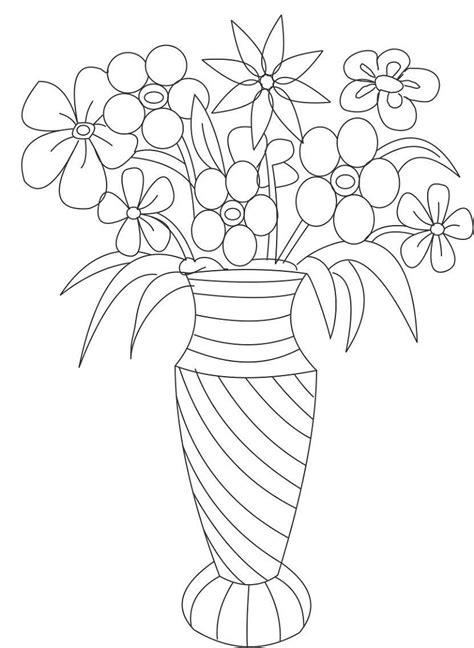 flower template to color loving printable vase and flower template blank loving printable