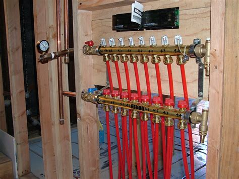 Radiant Plumbing And Heating by Manifold Setup Radiant Floor Heating Cooling Radiant Floor And Radiant Heat