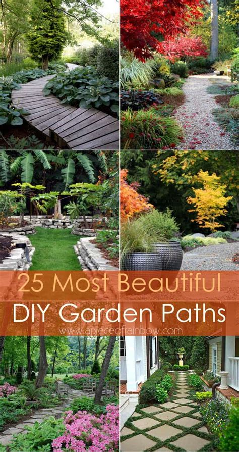 how to make a beautiful garden 25 most beautiful diy garden path ideas a piece of rainbow