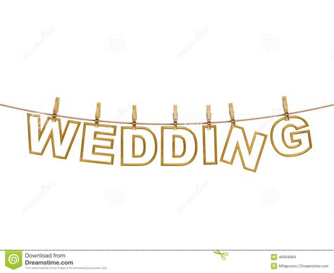 Wedding Background Letter by Golden Wedding Letters Hanging On Rope With Clothespins