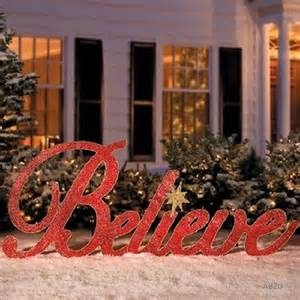 80 glittery red metal believe sign christmas holiday