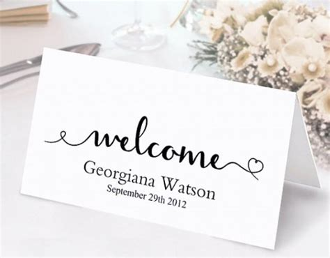 place cards template photoshop place cards wedding place card template diy editable