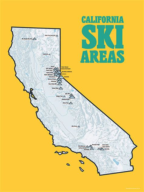california map poster california ski resorts map 18x24 poster 403 by bestmapsever