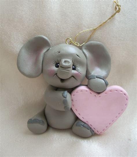 polymer ornaments polymer clay elephant ornament sculpture