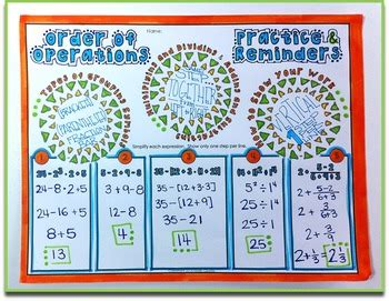 doodle order order of operations doodle notes by math giraffe tpt