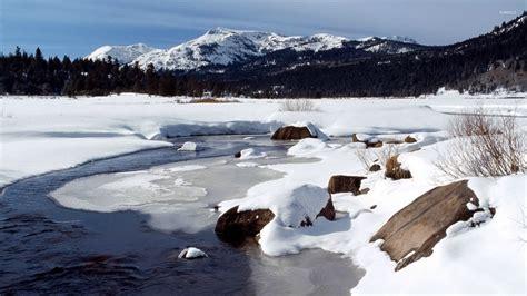 frozen river wallpaper frozen river 3 wallpaper nature wallpapers 16635