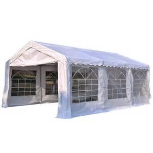 canopy garage 4m x 6m gazebo garden marquee canopy car shelter