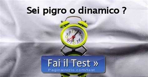 pagina inizio test test sei pigro o dinamico
