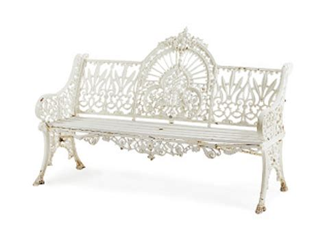 white cast iron bench a white painted cast iron and wood garden bench circa 1880 settee furniture